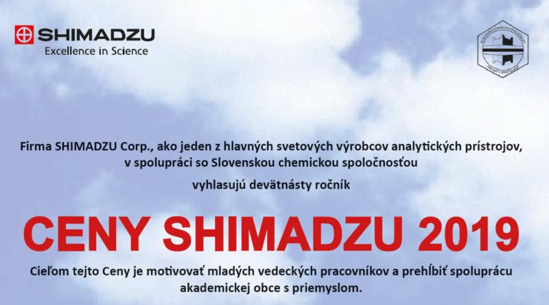 Cena SHIMADZU 2019